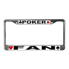 Poker Fan License Plate Frame