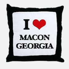 I love Macon Georgia Throw Pillow