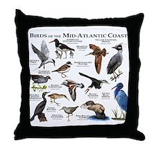 Birds of the Mid-Atlantic Coast Throw Pillow