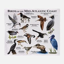 Birds of the Mid-Atlantic Coast Throw Blanket
