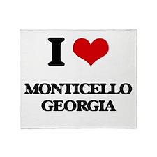 I love Monticello Georgia Throw Blanket