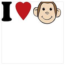 I Heart Monkeys Poster