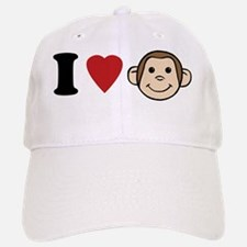 I Heart Monkeys Baseball Baseball Cap