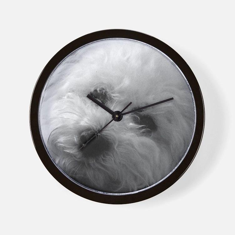 Cute Bichon Wall Clock