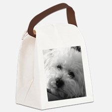 Cute Bichon Canvas Lunch Bag