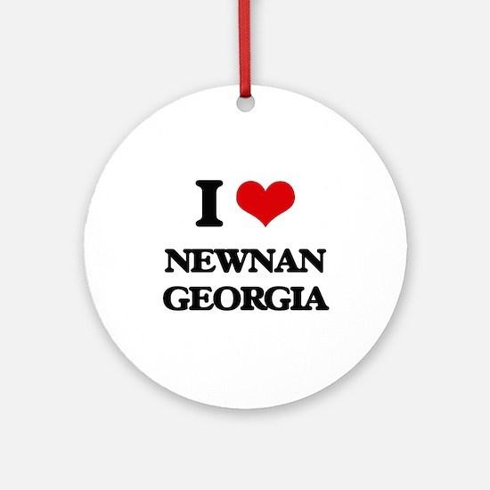 I love Newnan Georgia Ornament (Round)