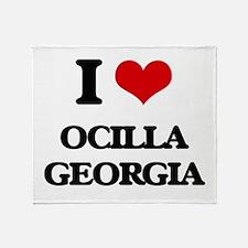I love Ocilla Georgia Throw Blanket