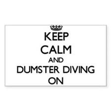 Keep Calm and Dumster Diving ON Decal