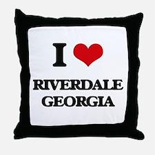 I love Riverdale Georgia Throw Pillow