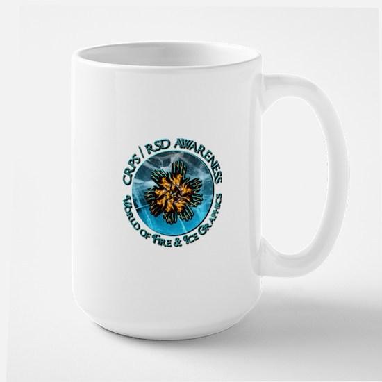 CRPS RSD Awareness World of Fire Ice Grap Mugs
