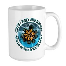 CRPS RSD Awareness World of Fire Ice Grap Mugs