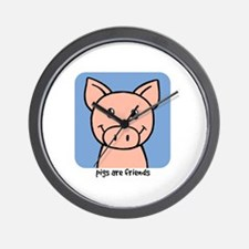PigFriend Wall Clock