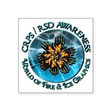 CRPS RSD Awareness World of Fire Ice Sticker