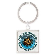 CRPS RSD Awareness World of Fire Keychains