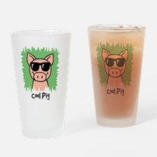 CoolPig Drinking Glass