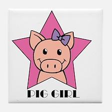PigGirl Tile Coaster