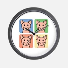 Piggies Wall Clock