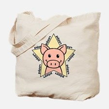 Pig Star Tote Bag