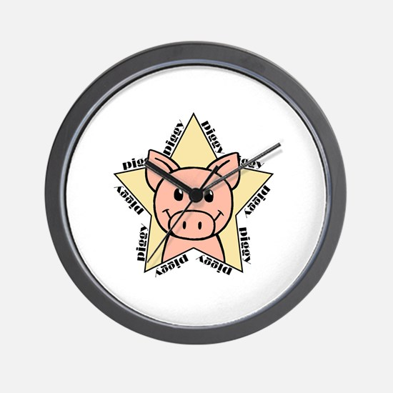 Pig Star Wall Clock