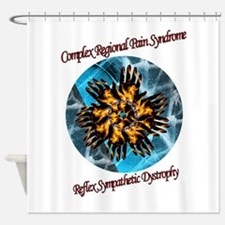 CRPS RSD Awareness Blazing Hands Ic Shower Curtain