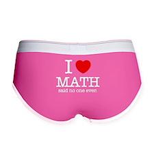 I Heart Math Women's Boy Brief