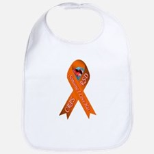 Someone I Love has CRPS Orange Ribbon Red Hear Bib