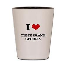 I love Tybee Island Georgia Shot Glass