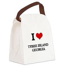 I love Tybee Island Georgia Canvas Lunch Bag