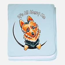 Australian Terrier IAAM baby blanket