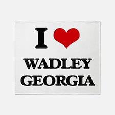 I love Wadley Georgia Throw Blanket