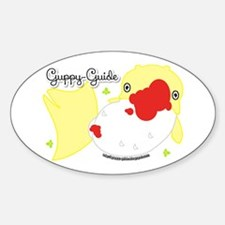 Guppy-Guide Logo Sticker (oval)
