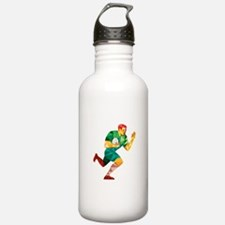 Rugby Player Fend Off Low Polygon Water Bottle