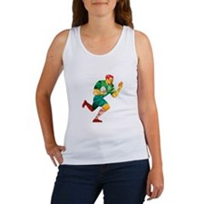 Rugby Player Fend Off Low Polygon Tank Top