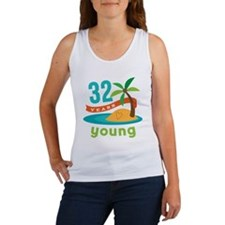 32nd Birthday Hawaiian Women's Tank Top