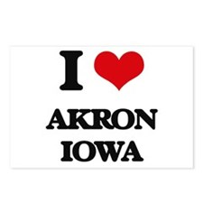 I love Akron Iowa Postcards (Package of 8)