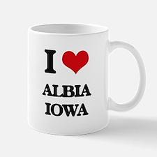 I love Albia Iowa Mugs