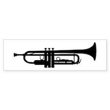 Trumpet Silhouette Bumper Bumper Sticker