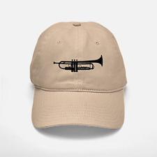 Trumpet Silhouette Baseball Baseball Cap