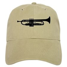 Trumpet Silhouette Baseball Cap