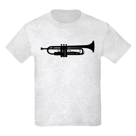 Trumpet Silhouette Kids Light T-Shirt