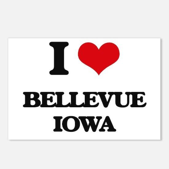 I love Bellevue Iowa Postcards (Package of 8)