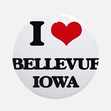 I love Bellevue Iowa Ornament (Round)