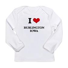 I love Burlington Iowa Long Sleeve T-Shirt