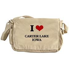 I love Carter Lake Iowa Messenger Bag