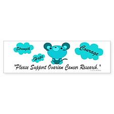 Teal Mouse 1 (OC) Bumper Bumper Sticker
