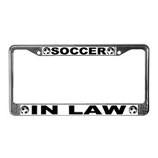 World Cup Soccer In Law License Plate Frame