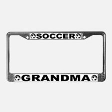 World Cup Soccer Grandma License Plate Frame