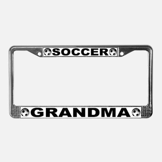 World Cup Soccer Grandma License Plate Frame