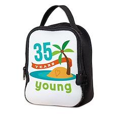 35th Birthday Hawaiian Neoprene Lunch Bag
