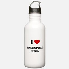 I love Davenport Iowa Water Bottle